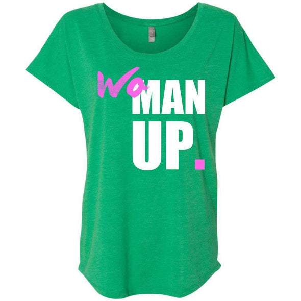 Woman Up T-Shirts CustomCat Envy X-Small
