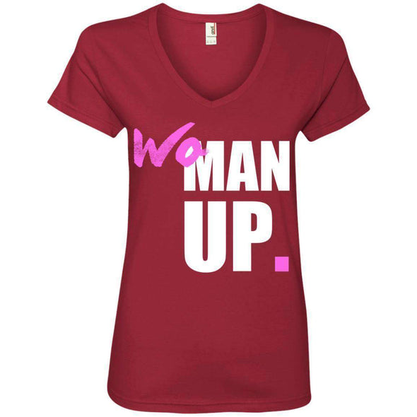 Woman Up T-Shirts CustomCat Independence Red Small
