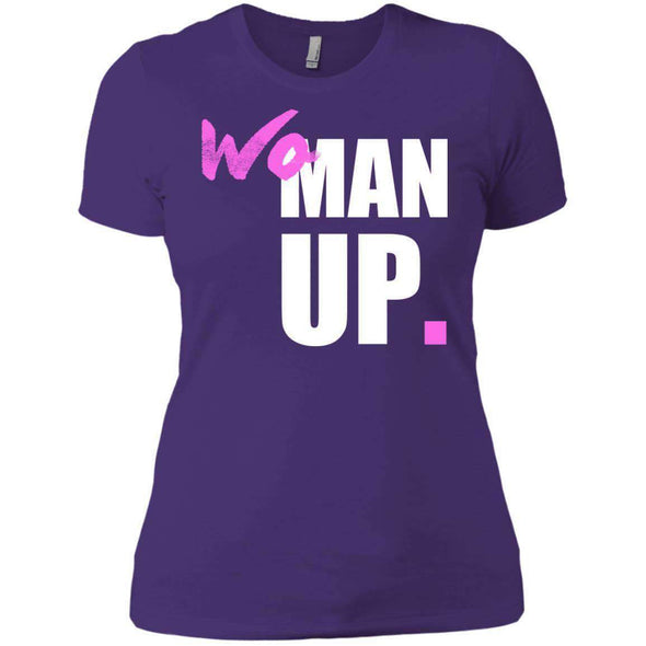 Woman Up T-Shirts CustomCat Purple X-Small