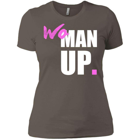 Woman Up T-Shirts CustomCat Warm Grey X-Small