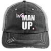 Women Up Hats CustomCat Black/Grey One Size