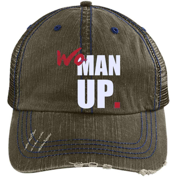 Women Up Hats CustomCat Brown/Navy One Size