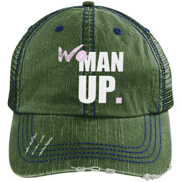 Women Up Hats CustomCat Dark Green/Navy One Size