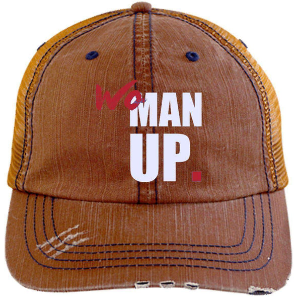 Women Up Hats CustomCat Orange/Navy One Size