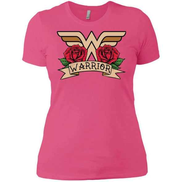 Wonder Warrior T-Shirts CustomCat Hot Pink X-Small