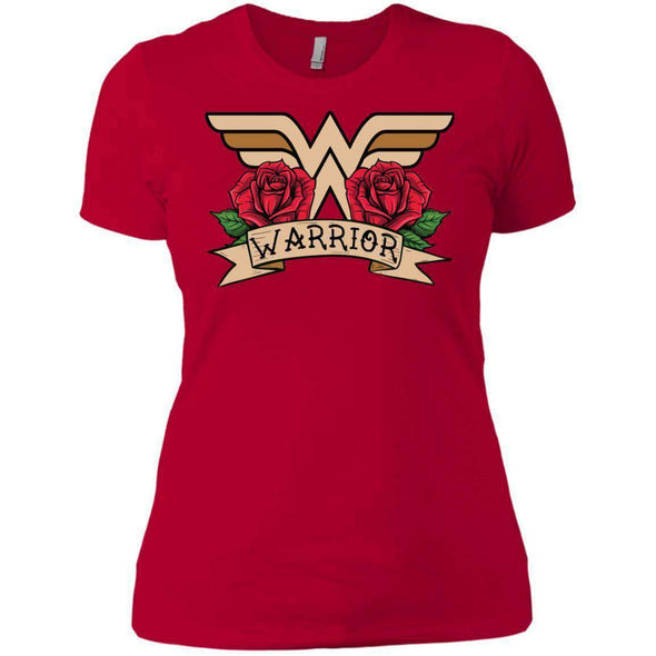 Wonder Warrior T-Shirts CustomCat Red X-Small