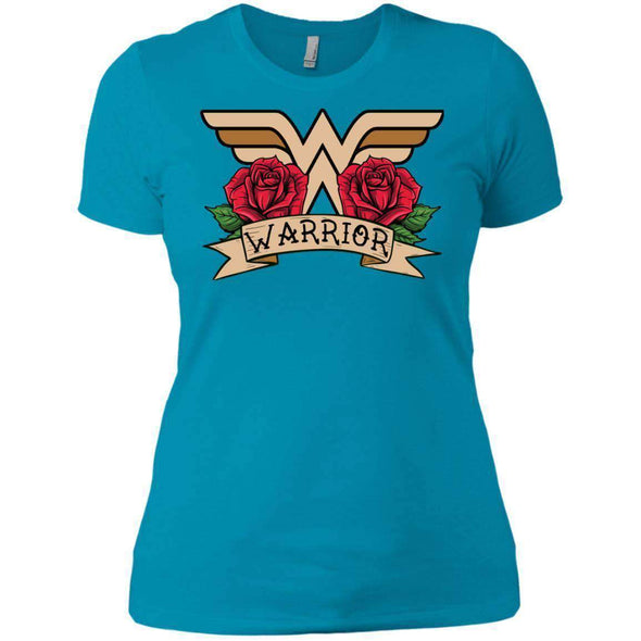 Wonder Warrior T-Shirts CustomCat Turquoise X-Small