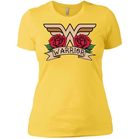 Wonder Warrior T-Shirts CustomCat Vibrant Yellow X-Small