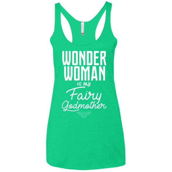 Wonder Woman is my Fairy Godmother Apparel CustomCat NL6733 Next Level Ladies' Triblend Racerback Tank Envy X-Small