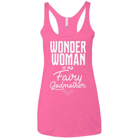 Wonder Woman is my Fairy Godmother Apparel CustomCat NL6733 Next Level Ladies' Triblend Racerback Tank Vintage Pink X-Small