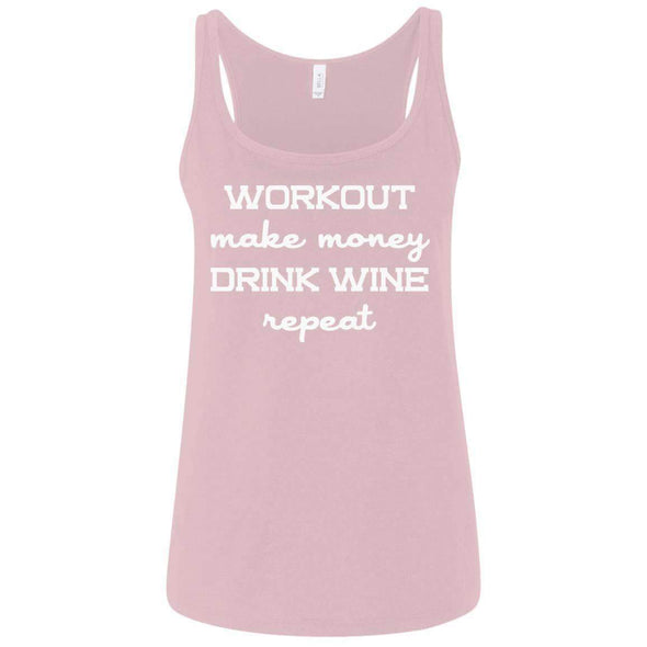 Workout Make Money Repeat T-Shirts CustomCat Pink S