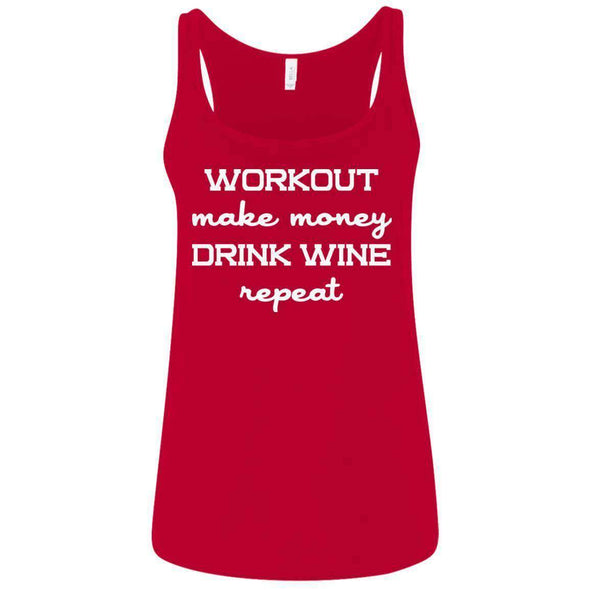 Workout Make Money Repeat T-Shirts CustomCat Red S