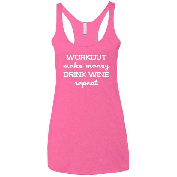 Workout Make Money Repeat T-Shirts CustomCat Vintage Pink X-Small