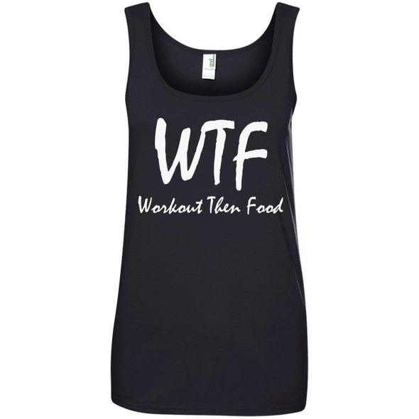 Workout Then Food T-Shirts CustomCat Black S