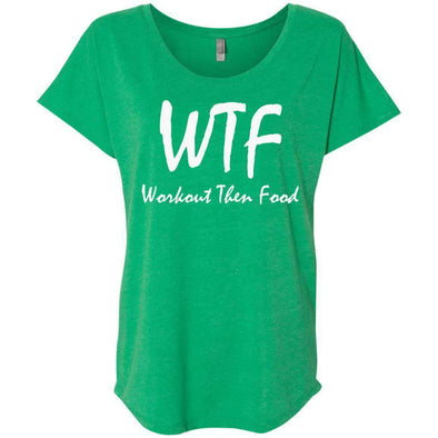 Workout Then Food T-Shirts CustomCat Envy X-Small
