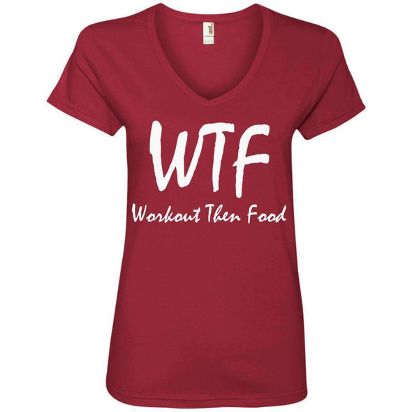 Workout Then Food T-Shirts CustomCat Independence Red S