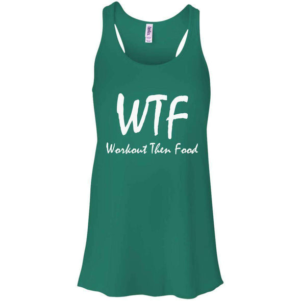 Workout Then Food T-Shirts CustomCat Kelly Green X-Small