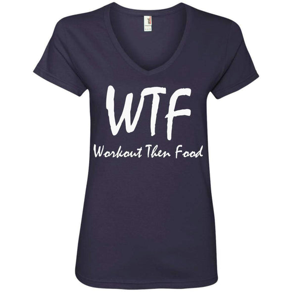 Workout Then Food T-Shirts CustomCat Navy S