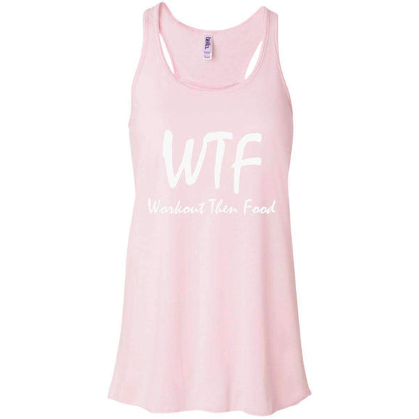 Workout Then Food T-Shirts CustomCat Soft Pink X-Small