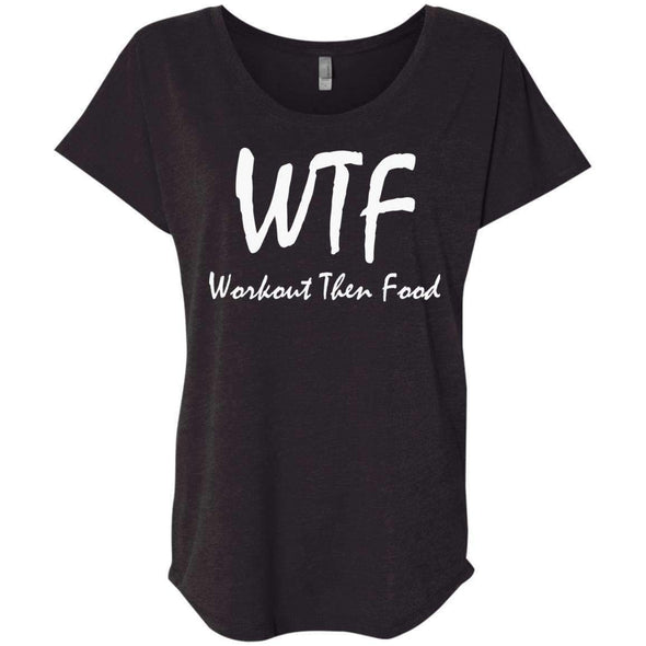 Workout Then Food T-Shirts CustomCat Vintage Black X-Small