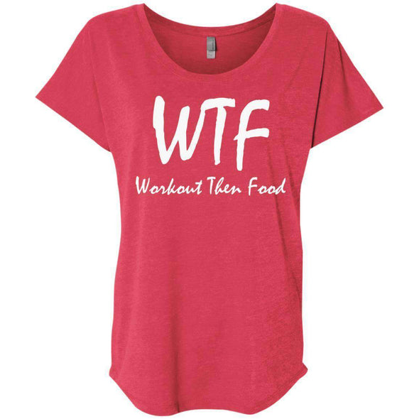 Workout Then Food T-Shirts CustomCat Vintage Red X-Small