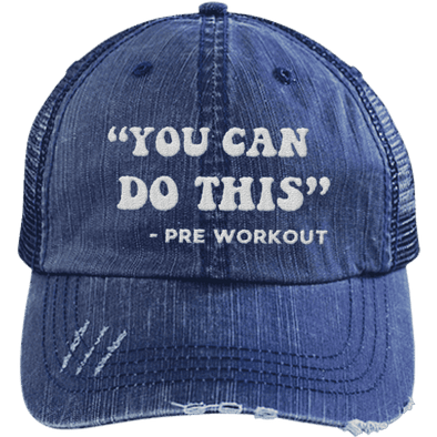 You Can Do This (Pre Workout) Hats CustomCat Navy/Navy One Size