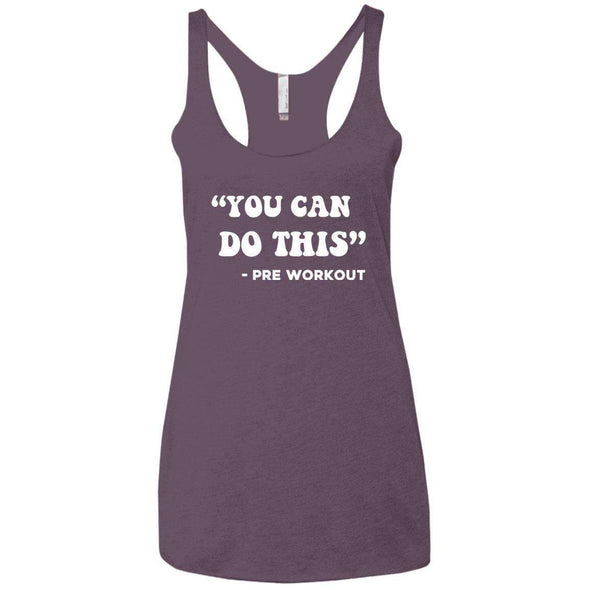 You Can Do This (Pre Workout) T-Shirts CustomCat Vintage Purple X-Small