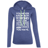 You Never Know How Strong You Are Hoodies Apparel CustomCat 887L Anvil Ladies' LS T-Shirt Hoodie Heather Blue/Neon Yellow Small