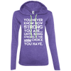 You Never Know How Strong You Are Hoodies Apparel CustomCat 887L Anvil Ladies' LS T-Shirt Hoodie Heather Purple/Neon Yellow Small
