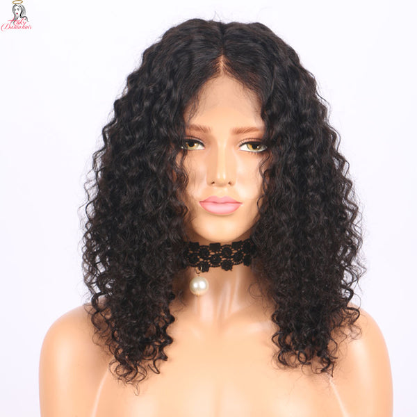 Curly Lace Front Wig Brazilian Remy Virgin Human Hair