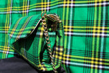 Green Tartan clutch bag with gold chain handle