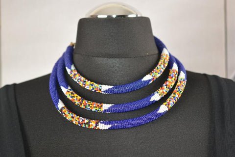 Beaded Necklace - Summer colours