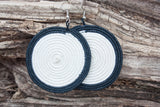 Woven Straw Round Earrings: Medium, Large & Extra Large