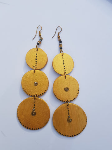 Wooden Dangling Earrings