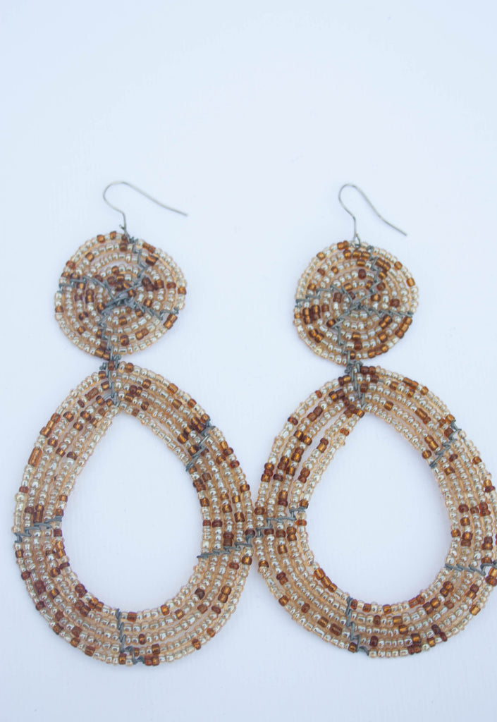 CLEARANCE!!! Gorgeous dangling earrings made with ceramic, beads.