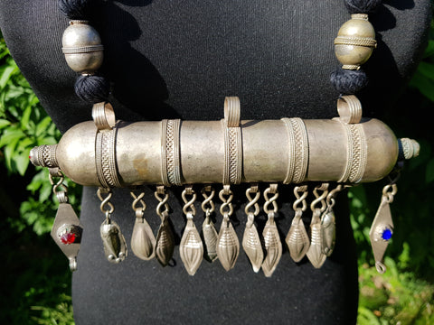 Vintage Turkman Cylinder Necklace