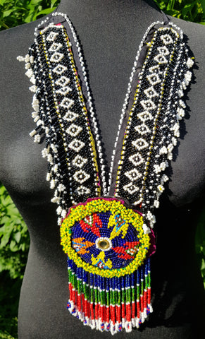 Vintage Kuchi Banjara Beaded Necklace handcrafted in India
