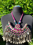 Vintage Afghan Tassel Statement Necklace