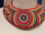 Round Maasai necklace - Intricate and colouful bead pattern
