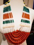 Statement Beaded Necklaces made in Nagaland by the Phom Tribe.