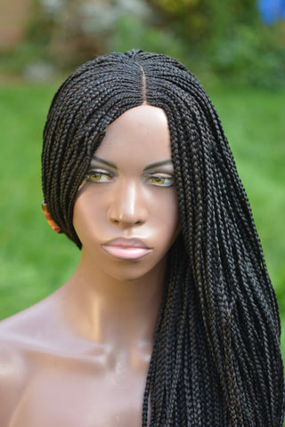 Ghana Weave Braided Wig - Black  (30 inches)
