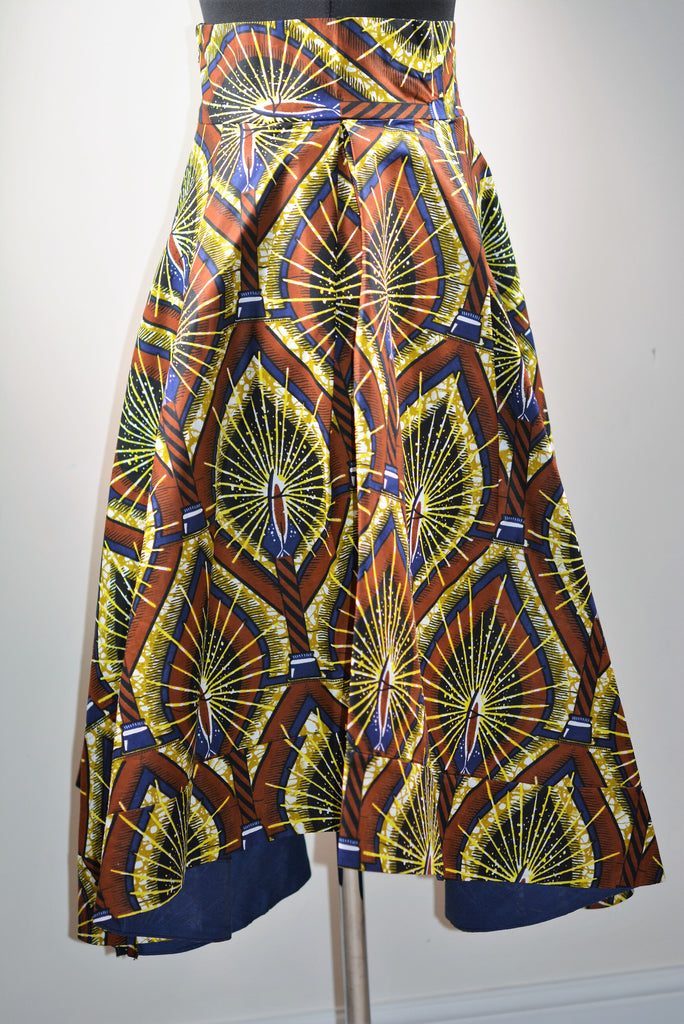 Dip Hem Skirts made with Ankara Print Fabric.