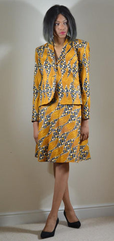 Ankara Blazer with Wrap Skirt