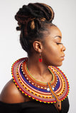 Maasai Disc Necklace - Various Sizes and Colours