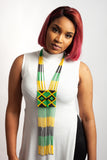 Multicoloured and Country Flag Colours Ndebele Tie Necklace