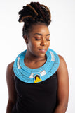 Maasai Disc Necklace - Jamaica, Nigeria, Barbados, Ghana and St Lucia Flag Colours
