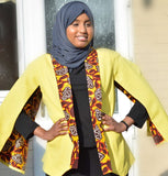 Bespoke Cape Blazer made with Ankara Print Fabric