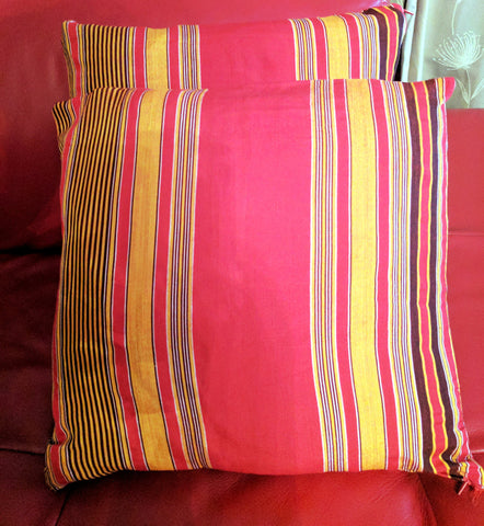 Cushion covers made with Ankara / Kikoi Fabric (Twin)