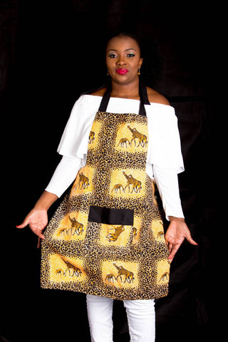 Canvas Apron made with African fabric