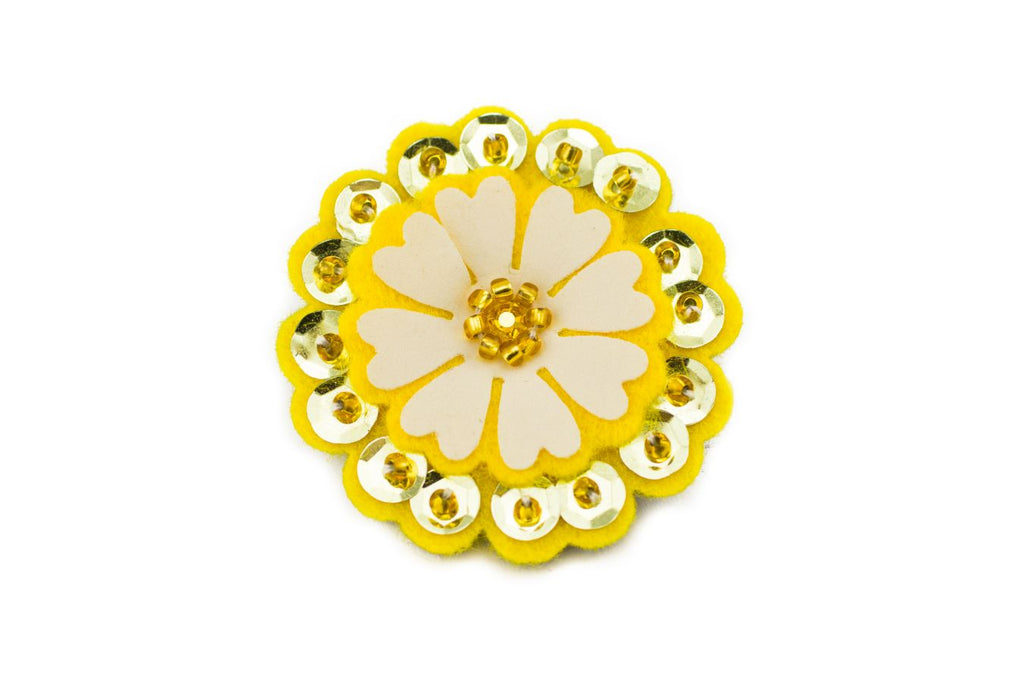 Sparkly Flower - Banana Yellow